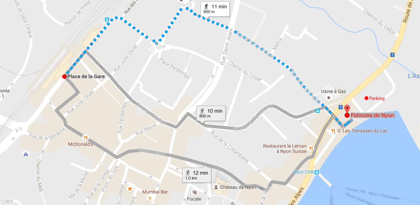 plan-patinoire-de-nyon-itineraire-a-pied